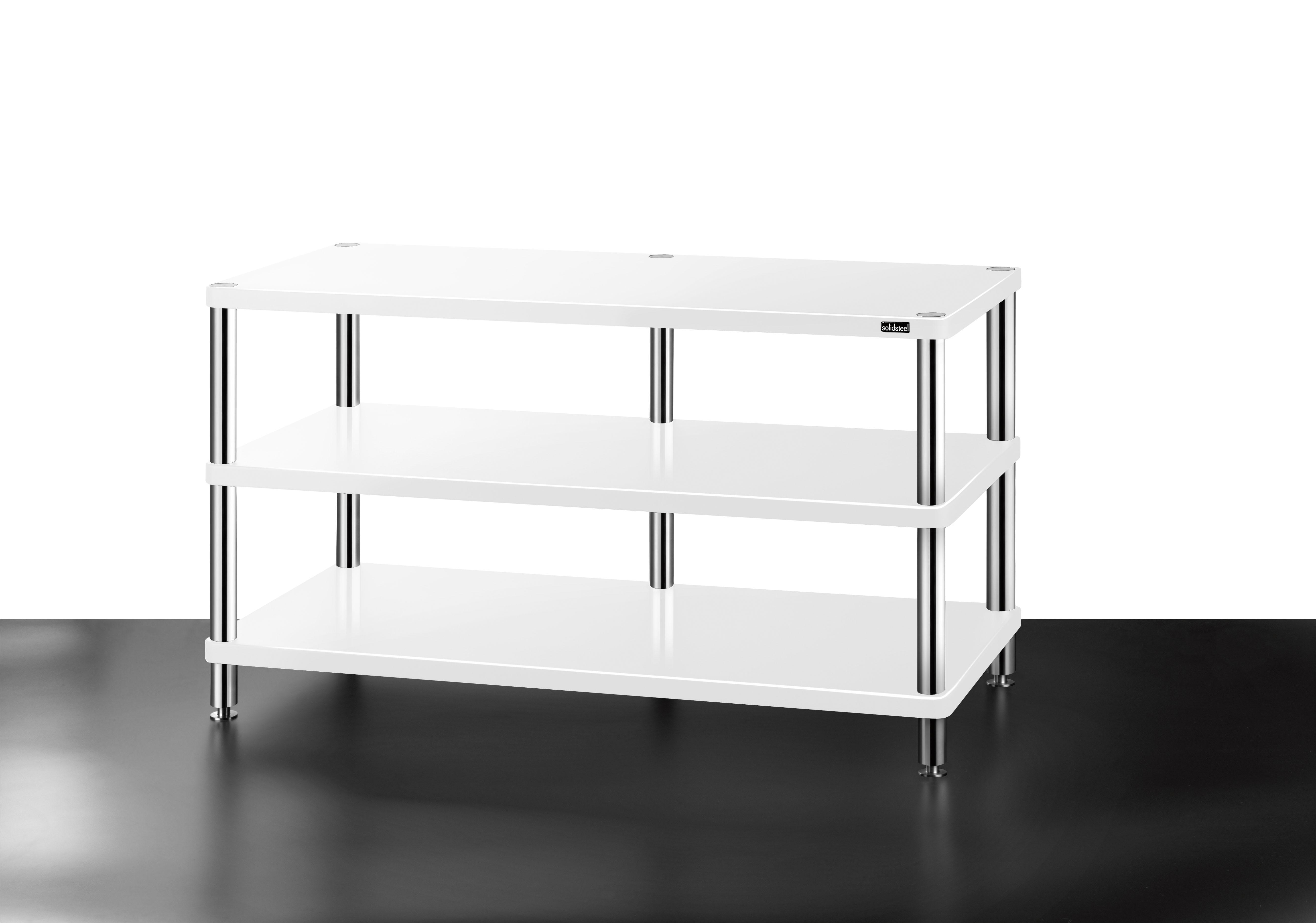 Tv Dvd Meubel.Hw 3 High End Tv Design Rack 3 Shelves Solidsteel